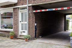 (Peter de Krom) Tags: boy white black kid scary alley mask hiding kvr hillegersberg schiebroek krachtvanrotterdam