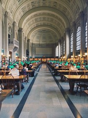 Bates Hall Reading Room (mlee525) Tags: boston buildings library books bostonpubliclibrary readingroom copleysquare iphone bpl mckimbuilding bateshall vscocam