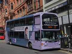 Nottingham City Transport Optare OmniDeckka (918) YT61 GPX 'Les Roome' (East Midlands Transport Photography) Tags: city nottingham transport 27 918 optare lilacline yt61gpx omnideckka