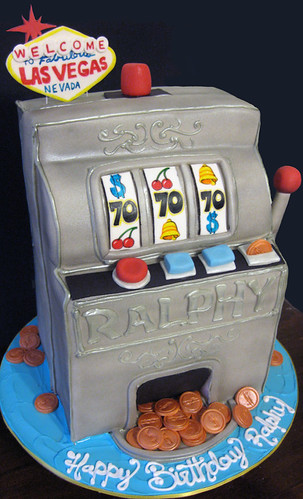 Slot Machine Las Vegas Cake
