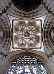 England's coolest tea/coffee shop: The 15th C. starburst tower vault, St James' Church, Louth, Lincolnshire, England (Hunky Punk) Tags: uk england coffee james tea gothic towers churches medieval lincolnshire shops middleages louth starburst vaults lincs hunkypunk spencermeans