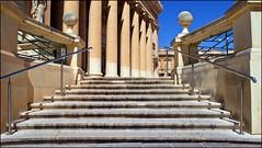 Stairway to church (tor-falke) Tags: church europa europe sony kirche malta architektur rotunda bauwerk église mosta sonyalpha alpha200 torfalke flickrtorfalke alpha200230 rotundesantamarijaassunta