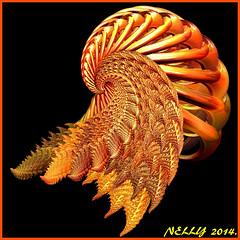 *JELLYFISH... (MONKEY50) Tags: orange abstract art colors digital gold fractal hypothetical musictomyeyes autofocus beautifulphoto artdigital flickraward awardtree netartii