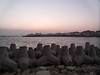 rocks on water (A.TeFa) Tags: sky beach water sunrise rocks شاطئ سماء بحر شروق الشمس صخور