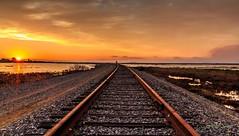 Infinity (Liping Photo) Tags: railroad sunset canon canon5dmarkiii