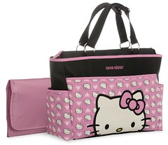 Hello Kitty Allover Print Applique Tote Diaper Bag, Pink/Black/White Review (nicholebegonia) Tags: hello print review kitty diaper applique tote allover pinkblackwhite