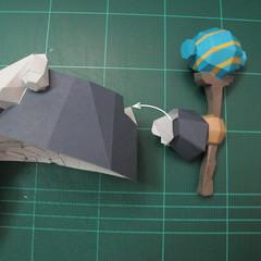 วิธีทำโมเดลกระดาษของเล่นคุกกี้รัน คุกกี้รสพ่อมด (Cookie Run Wizard Cookie Papercraft Model) 041