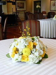 Centerpieces, Lake Geneva Wedding, Wisconsin Wedding, Geneva National Golf Course wedding, Naperville wedding florist, AimStudios, gray and yellow wedding (AimStudios) Tags: wisconsin lakegeneva yellowroses whitehydrangea whiteroses whitedahlias craspedia whitestock creamstock yellowdahlias billyballs oncidiumorchids yellowwedding scabiosapods whitesprayroses yellowandgraywedding yellowsprayroses whiteveronica yellowgardenrose ivoryhypericum genevanationalgolfcourse