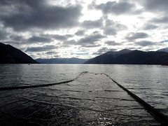 Water Highway (Jaime Atria) Tags: chile lake southamerica clouds lago muelle dock nubes caburga pucn sudamrica caburgua jaimeatria