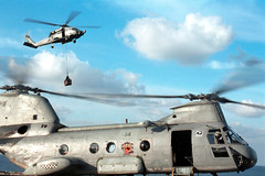001026-N-9848G-003 (navalsafetycenter) Tags: cargo helicopter flightdeck supply ch46seaknight vertrep verticalreplenishment ussgeorgewashingtoncvn73 hs15 redlions sh60seahawk helicopterantisubmarinesquad 001026n9848g003jpg