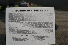 EC-135E_Sign1 (AJ's Airplanes) Tags: boeing aria ec135 usairforcemuseum nationalmuseumoftheunitedstatesairforce droopsnoot nationalmuseumoftheusaf ec135e snoopynose advancedrangeinstrumentationaircraft