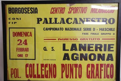 Manifesto Borgosesia vs. Collegno Basket - Serie D Maschile