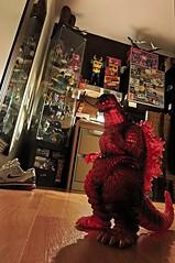 Death Goji (Solitude is preferred) Tags: red ikea toys lava shoes glow nike collection toyroom daikaiju detolf burninggodzilla marmitgodzilla kaijusofubi godzillasofubi
