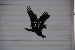 House number 77 (_Marcel_) Tags: sign norway eagle adler norwegen lofoten 77 housenumber henningsvr hausnummer seeadler 77frame
