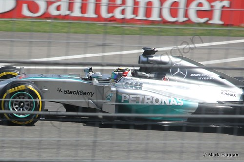 Lewis Hamilton in qualifying for the 2014 German Grand Prix