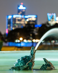 Snapper (Lawrence of Berkley) Tags: fountain night scott photography gm snapping turtle michigan detroit center belle isle renaissance