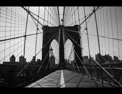 Over the Brooklyn (Rick DeCosta) Tags: nyc newyorkcity bridge blackandwhite brooklyn rick brooklynbridge decosta nikond90
