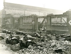 D P & L - London Blitz (Dundee City Archives) Tags: london docks force dundee air 1940 german wharf damage ww2 delivery vans raid bomb blitz destroyed bombing warehouses worldwar2 limehouse lorries luftwaffe dockland dpl dundeeperthlondonshippingcompany axy930