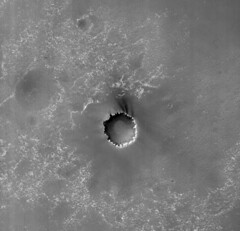 Victoria Crater (sjrankin) Tags: red mars edited 2006 nasa crater huge mro redchannel victoriacrater 13august2014 psp0016121780
