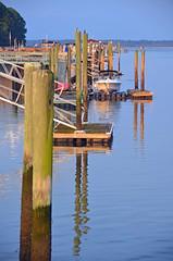 Sunrise along the Piers DSC_0250 (John Dreyer) Tags: ocean travel vacation water docks sunrise nikon piers southcarolina summervacation lowcountry coastalcarolina caliboguesound nikond5100 photocreditjohnjdreyer copyright2014johnjdreyer
