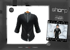 "sharp by [ZD] - ""Curtis"" Dress Shirt & Waistcoat (shine & sharp by [ZD]) Tags: life urban man male men fashion shirt by demo cool shine dress place mesh market tie sharp sl dresses second mann marketplace mp vest mode waistcoat curtis mnner krawatte kleidung menswear kleid hemd mnnlich zd weste inworld zddesign"