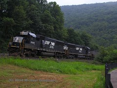 The Assistants (qnuts86) Tags: locomotive horseshoe coal curve freight locomotives helper freighttrain norfolksouthern emd coaltrain dpu sd40e