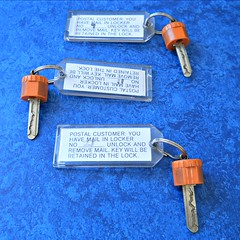 29/114 235/365:  Orange Keys on a Blue Table Square Crop (MountainEagleCrafter) Tags: orange 3 metal set keys three postoffice theme 29 orangeandblue day235 235365 82314 3652014 2014yip 365the2014edition 2014internationalbeauty 23082014 08232014