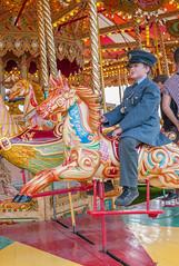 Goodwood Revival 13 September 2014 (Robert L Whitehead) Tags: costume uniform ride 1940 carousel merrygoround shad period aviator 1950 goodwood raf cadet 1960 revival