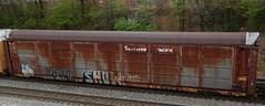 ETTX (SP) Autorack 854264 (tjtrainz) Tags: car pacific flag southern sp fallen freight autorack