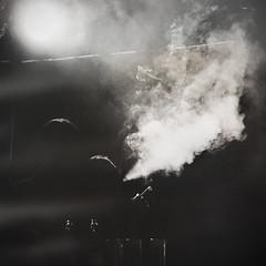 Smoke alert (Sator Arepo) Tags: blackandwhite beer silhouette dark couple cigarette smoke blo