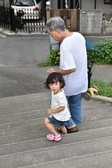 DSC_3984 (Yoshinori Matsunaga) Tags: summer holiday girl japan japanese nc kid nikon child sunday grandfather august osaka nikkor ncc lonesome d4s 2470mmf28g ibarakishi