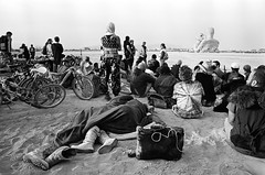 00940004 (McGography) Tags: city white man black film rock 35mm fuji nathan minolta nevada playa burning burn nate 100 embrace acros x700 2014 noritsu caravansary mcgarigal