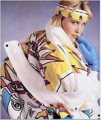 99 (onesieworld) Tags: snow ski fashion one shiny retro suit 80s piece nylon 90s catsuit onesie kink