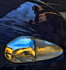 CAR ART (Irene2727) Tags: auto light reflection colors car mirror lucca