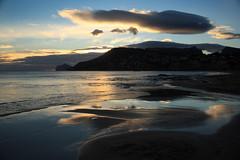 IMG_4736 Beach - Playa de la Fossa o Levante (jaro-es) Tags: espaa reflection sol beach clouds canon evening abend spain playa sonne spiegelung spanien reflexin platja calpe costablanca spanelsko eos450