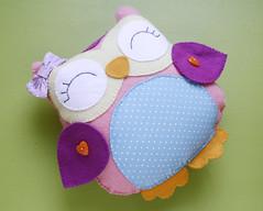 Corujinha de feltro (Meia Tigela flickr) Tags: baby felt owl coruja bebê feltro decoração corujas corujinhas coruinha