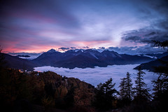Sea of Cloud - Sauze d'Oulx (Paolo Pettigiani) Tags: longexposure autumn winter sunset summer sky italy mountain beautiful clouds sunrise lights amazing italia view piemonte piedmont bardonecchia sauzedoulx skyporn valledisusa