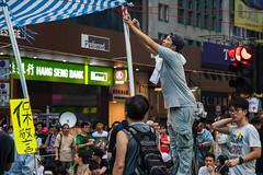 / Occupy Central /  / Umbrella Revolution (kelvintkn) Tags: street leica city people colour digital 35mm hongkong daylight asia sony summicron strike fullframe mongkok manualfocus lightroom primelens mirrorless a7r sharpenerpro sonyphotography colourefexpro emount leicasummicronm35mmiv dfinepro
