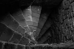 stairs (di.fe88) Tags: travel light holland abandoned nature stone lost blackwhite ruin ruine burg lostplace