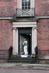 stripper spotted in Catherine Street (Towner Images) Tags: paint decoration strip preparation decorator painter door period liverpool georgianquarter catherinestreet towner city house dwelling property residence townhouse