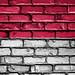 National Flag of Monaco on a Brick Wall