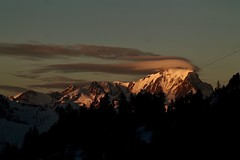 Mont Blanc's  scarf (AngharadW) Tags: clouds france mountain angharadw alps montblanc