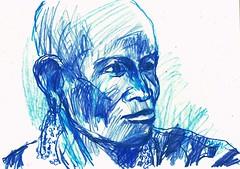 MUJERES DE  COLOR (GARGABLE) Tags: gente angelbeltrán apuntes sketch azul drawings dibujos cartulinas lápicesdecolores massai