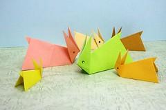 Rabbit (Ichigo Miyama) Tags: うさぎ rabbit origami おりがみ 折り紙 paper
