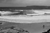 Waiting For Something To Happen (Swebbatron) Tags: australia manly sydney thursdaythrowback fuji travel lifeofswebb radlab 2008 curlcurl deewhy surf surfer grain blackandwhite mono beach coast sand waves