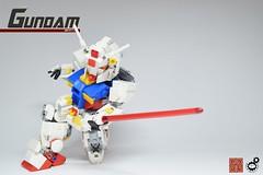 17. Gundam First Kill (Sam.C (S2 Toys Studios)) Tags: rx782 gundam mobilesuit legogundam lego moc samc s2toys 80s scifi mecha anime japan spacecraft
