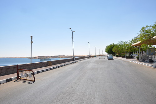 Road on the top of the Aswan High Dam