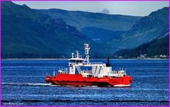Scotland car ferry Sound of Scarba crossing the river Clyde from Argyll to Gourock if your lucky you may see a dolphin 18 June 2014 by Anne MacKay (Anne MacKay images of interest & wonder) Tags: seascape mountains west car june by ferry river anne scotland clyde photo highlands sound mackay 18 2014 scarba