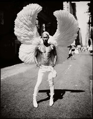 ANGEL of the NYC PRIDE PARADE (Giovanni Savino Photography) Tags: newyorkcity newyork angel pride papernegative prideparade graflex largeformatphotography newyorkstreets nypride 3asa caffenolc newyorkstreetphotography magneticart nycprideparade giovannisavino nycpridephoto nycprideangel newyorkprideparadephoto