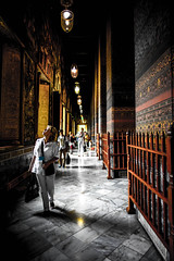"Inside the temple ""Wat Pho"" (Kantashoothailand) Tags: travel portrait people art wonderful thailand temple sony voigtlander merit f18 watpho 21mm ultron a7r totallythailand"